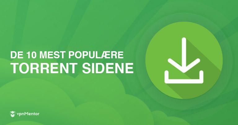 De mest populære torrent-sidene
