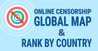 Nettsensur: et globalt kart og en rangering av int