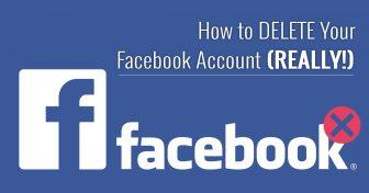 Hvordan SLETTE din Facebook konto (VIRKELIG!) – 2018 oppdatering