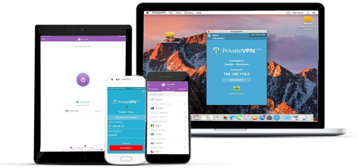 PrivateVPN devices